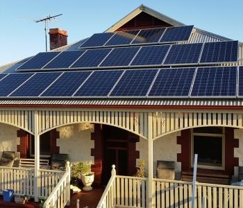 residential solar panel installed