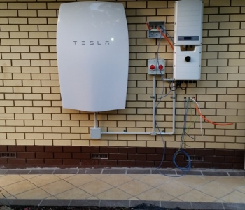 tesla powerwall installed at home